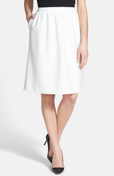 Spring trend, #white - great skirt for work, only $78 Chelsea28 Shirred Woven Skirt available at #Nordstrom