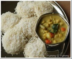 Idiyappam and Veggie tew