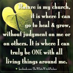 nature is my church, spiritual, psychic, detox, heal, vibrations, meditation, witch, book of shadows, enchanted, forest, oneness, inspiration  https://www.facebook.com/TheWhiteWitchParlour * www.whitewitchparlour.com