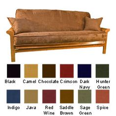 @Overstock - Microsuede Futon Cover Set with Double Cording - Give your futon new life with this stylish futon cover set. This three-piece set includes a microsuede futon cover and two coordinating 18-inch throw pillows. Choose from a variety of color options, including indigo, red wine, camel, and black.    http://www.overstock.com/Home-Garden/Microsuede-Futon-Cover-Set-with-Double-Cording/3066699/product.html?CID=214117  $77.39