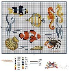 Cross Stitch Sea, Small Cross Stitch, Cross Stitch Bookmarks, Cross Stitch Needles, Cute Cross Stitch, Beaded Cross Stitch, Cross Stitch Animals, Cross Stitch Charts, Cross Stitch Designs