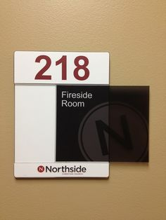 Interior directional signs for Northside Christian ChurchOngoing project - Fall 2013 completion