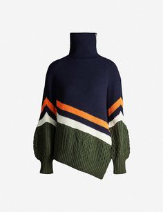Chunky Knitwear, Fashion Corner, Deconstruction, Knit Fashion, Wool Blend, Casual Outfits, Creations, Men Sweater, Turtle Neck