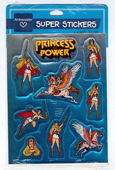 Vintage 1986 She- Ra Princess of Power FOIL Sticker Sheet NIP Ambassador…