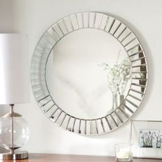 Décor Wonderland Fortune Modern Frameless Beveled Wall Mirror - 27.6 diam. in. - Walmart.com