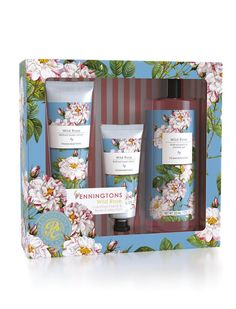 NEW: Penningtons Wild Rose Hand & Body Collection! Anyone who loves floral fragrances will adore our new Penningtons gift sets. This Hand & Body Collection contains a beautiful bouquet of bath and body products available in three scents: Orange Blossom, White Jasmine and Wild Rose.