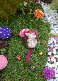 Handmade Unicorn for our Fairy Garden! Complete with cute unicorn poop!