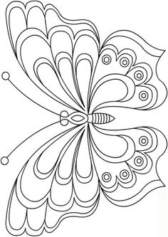 Free butterfly pattern templates - New Site Butterfly Quilt, Butterfly Drawing, Butterfly Template, Butterfly Crafts, Butterfly Pattern, Crown Template, Butterfly Mobile, Heart Template, Flower Template