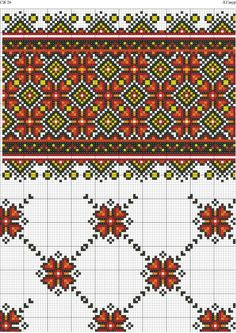 Folk Embroidery, Hand Embroidery Patterns, Embroidery Stitches, Cross Stitch Patterns, Embroidery Suits Design, Embroidery Designs, Motifs Blackwork, Russian Cross Stitch, Palestinian Embroidery