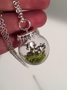 Magical Unicorn Pet unicorn in a glass globe with by DoodleButton
