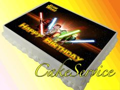 LEGO STAR WARS PERSONALIZED EDIBLE BIRTHDAY CAKE ICING TOPPER by ...