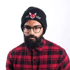 Keep yourself warm with our Black Original Fox Soup Beanie! With a red embroidered fox you'll stand out from the crowd! Winter Hats, Fox, Beanie, The Originals, Trending Outfits, Unique, Clothes, Vintage, Black