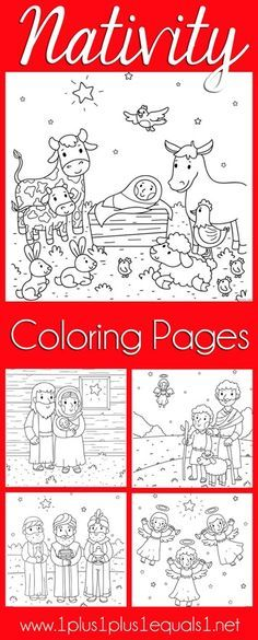 Christmas Nativity Coloring Pages Ministry School Ideas For Kids