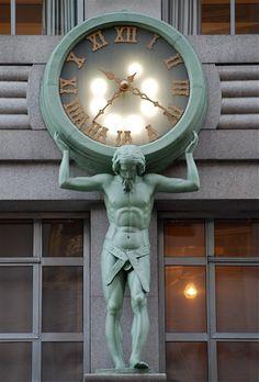 tiffany atlas clock in NYC