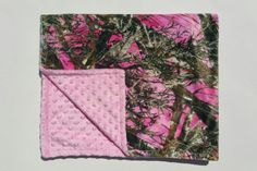 Pink Camo Blanket by RunninWithScissors8 on Etsy