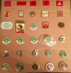 Photos from another Starbucks pin collection.