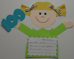 Cute 100th Day glyph with writing prompt
