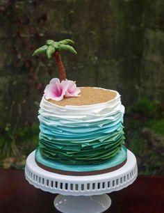 Tropical Ombre Cake