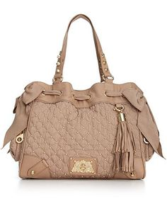 Juicy Couture Handbag, Upscale Quilted Nylon Daydreamer Bag - Tote Bags - Handbags & Accessories - Macy's