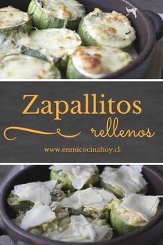 Italian zucchini stuffed without meat, Food And Drinks, The Italian zucchini stuffed in this meatless version are my favorites, the soft stuffing and with the cheese melted on top, an exquisite delight. Mexican Food Recipes, Healthy Recipes, Ethnic Recipes, Chilean Recipes, Chilean Food, Comida Diy, Costa Rican Food, Vegetarian Lunch, English Food