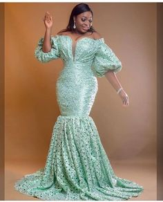 Aso ebi lace gown styles beautiful Aso ebi Long gown Lace for wedding African Lace Styles, African Lace Dresses, Latest African Fashion Dresses, African Dresses For Women, African Wedding Attire, African Attire, African Print Clothing, African Print Fashion, Lace Gown Styles