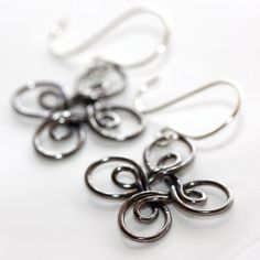 Gunmetal Earrings  'Excess Shortage' by Simplish on Etsy, $17.75