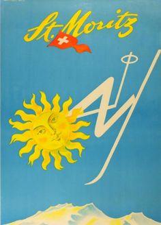 St. Moritz travel poster | Tumblr