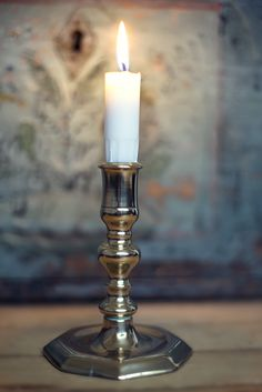 Old Norwegian candlestick -  Baroque, 1700s
