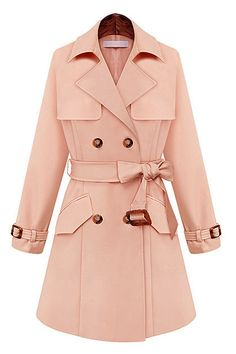 Ms long-sleeved double-breasted coat lapels