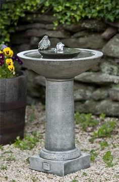 Doubling as a birdbath and a fountain, the Aya Fountain is the perfect addition to any garden.