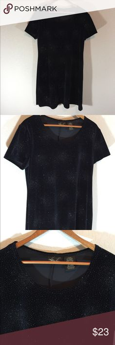 🎄90s Black Starburst Kathie Lee Party Dress🎄 Vintage Kathie Lee Collection  Black velvety look and feel with sparkly starburst  Great Condition  The Perfect Holiday Party Dress  Size Large 12/14 Kathie Lee Collection Dresses