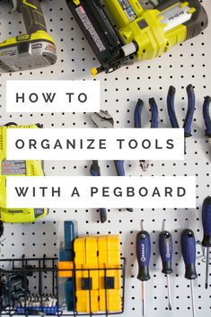 How to organize tools with a garage breadboard, # a garage breadboard . - How to organize tools with a garage breadboard, breadboard - Pegboard Garage, Tool Pegboard, Garage Tools, Garage Shop, Ikea Pegboard, Kitchen Pegboard, Painted Pegboard, Pegboard Display, Garage Shelving