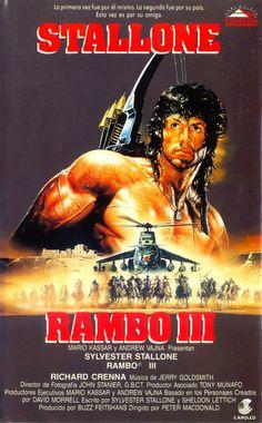 COLECCIÓN DE CARTELES ANTIGUOS DE CINE- Rambo III 1988, con Sylvertes Stallone