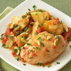 Healthy Slow Cooker Recipes | Diabetic Living Online - Chicken Vera Cruz