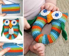 Cute Owl Crochet Rattle FREE Pattern