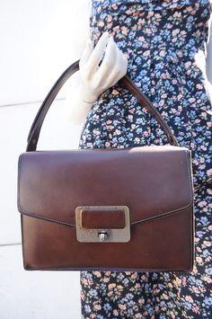 sac bag cabas retro vintage 60 vtg granny POrte main simili cuir