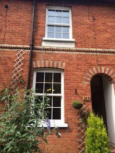 White Pvcu Sliding Sash Windows In White Woodgrain With