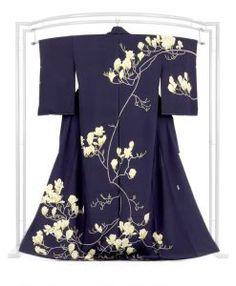 【宮野 勇造】作 ≪伝統的工芸品 加賀友禅≫本加賀友禅訪問着 「木蓮」 完成された自然美の風雅な表情。