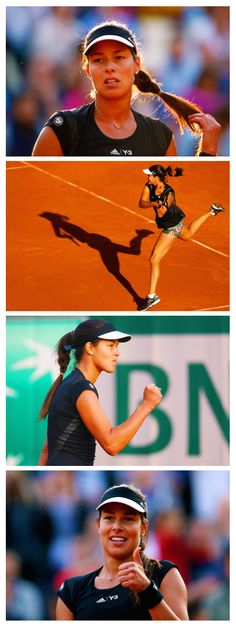 Ana Ivanovic in adidas Roland Garros Y-3 apparel at the French Open | Get her look here: http://www.tennis-warehouse.com/player.html?ccode=AIVAN
