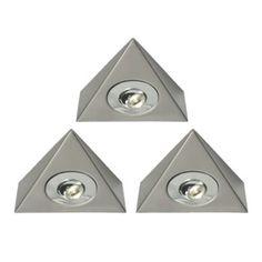 B&Q Select Swathe Under Cabinet LED Lighting Kit, Pack of 3, 0000003744727