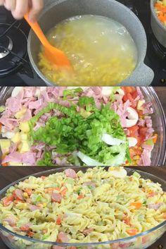 Salada de Macarrão, uma ótima opção de acompanhamento para almoço ou jantar!
