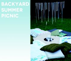 All the details of our Backyard Summer Picnic  #collectandcarry