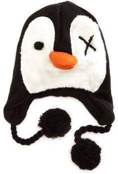 Bioworld Girls 7-16 Penguin Laplander Hat, Black, One Size bioworld, http://www.amazon.com/dp/B005H3BEXW/ref=cm_sw_r_pi_dp_XKeRpb04ABT8K