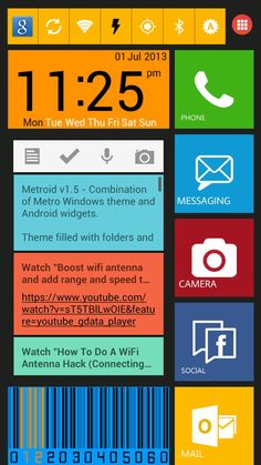 Homescreen Design Contest Entry!! James Lim | My Homepack Metroid v1.6 - Combination of Metro Windows theme and Android widgets.