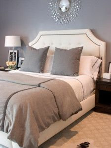 White Upholstered Headboard with Platform
