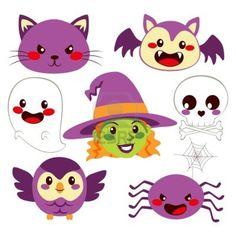 Colección de elementos de diseño divertido lindo de Halloween Foto de archivo - 15255142