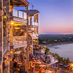The Oasis on Lake Travis, Austin, Texas — by MapNomads. Oasis in Austin is a place famous for its sunset views. They even ring a bell when the sun sets in the horizon,.what a wonderful place Texas Vacations, Texas Roadtrip, Texas Travel, Vacation Destinations, Vacation Trips, Travel Usa, Texas Vacation Spots, Family Vacations, Cruise Vacation