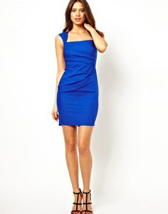 Lipsy Pleated Pencil Dress with Square Neck $98.43 at Asos.com. 20% off with coupon code TAKE20 through May 28, 2013. #dress