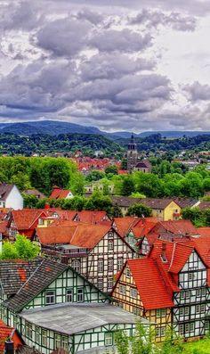 Fachwerk- Häuser, Bad Sooden-Allendorf, Hessen, Germany