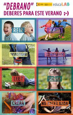 """""""Debrano"""", deberes para este verano ;-) Baseball Cards, Sports, Funny Stuff, Tecnologia, Summer Time, Classroom, Exercises, Hs Sports, Sport"""